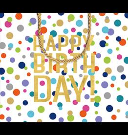 Caspari Happy Birthday Gift Bag LG 11.75x4.75x10