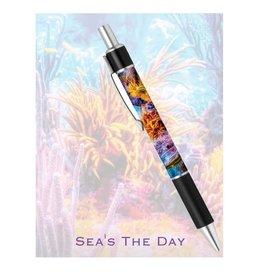 By The Seas-N Greetings Sea's The Day Notepad Pen Set w Ocean Reef Design