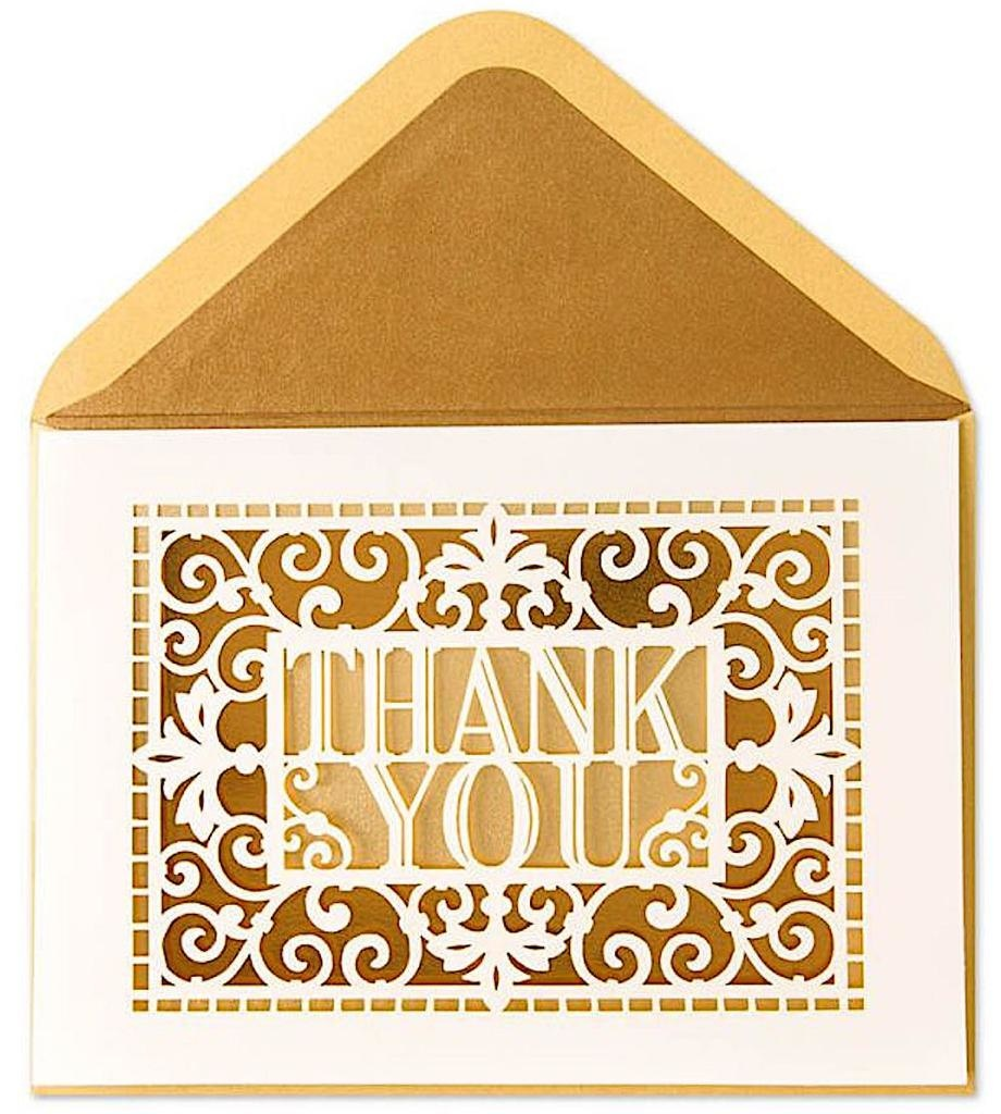 PAPYRUS® Thank You Card Classic Laser Cut