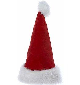 Kurt Adler Christmas Santa Hats Red And White Fur Cuff W Pom-Pom