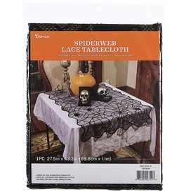Darice Halloween Spider Web Lace Tablecloth 27x43 Inch