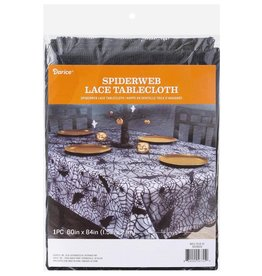 Darice Halloween Spider Web Lace Tablecloth 60x48 Inch