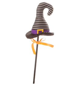 Darice Halloween Picks Witch Hat Pick 4x16 inch Black White Stripes