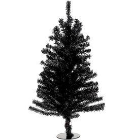 Kurt Adler Black Christmas Tree 18 inch Un-Lit Miniature Black Tree