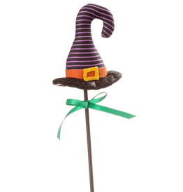 Darice Halloween Picks Witch Hat Pick 4x16 inch Purple Stripes