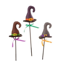 Darice Halloween Picks Witch Hats 4x16 inch Set of 3 Assorted