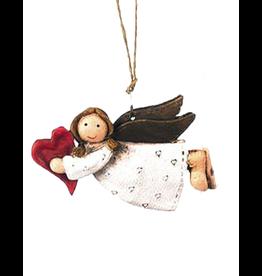Darice Mini Angel Ornament Angel Flying Holding Heart