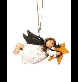Darice Mini Angel Ornament Angel Flying Holding Yellow Star