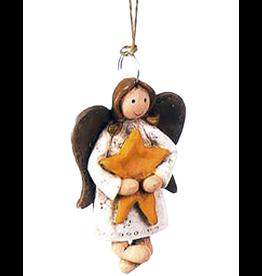 Darice Mini Angel Ornament Angel Standing Holding Yellow Star