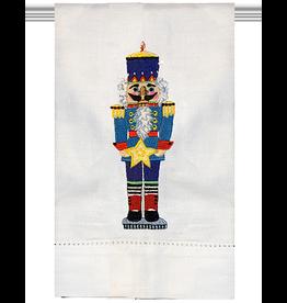 Peking Handicraft Christmas Hand Towel Nutcracker W Star Guest Towel