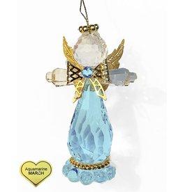 Kurt Adler Birthstone Angel Ornaments 3.25 Inch MARCH Aquamarine