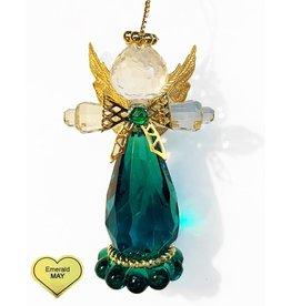 Kurt Adler Birthstone Angel Ornaments 3.25 Inch MAY Emerald