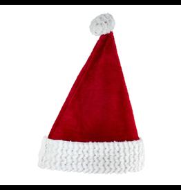 Kurt Adler Christmas Santa Hats Red White Glitter Sequin Fur Cuff W Pom-Pom