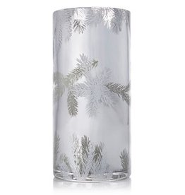 Thymes Frasier Fir Statement Candle Luminary Pillar LG 30oz Silver Pine Design
