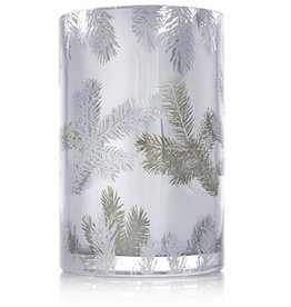 Thymes Frasier Fir Statement Candle Luminary Pillar MD 20oz Silver Pine Design