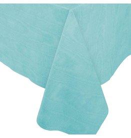 Caspari Moire Printed Paper Linen Table Covers In Mediterranean Blue