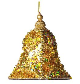 Katherine's Collection Gold Encrusted Bell Christmas Ornaments LG 6.5x5.5 Inch