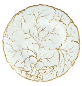 Caspari Placemats Hard Die Cut Gilded Majolica Ivory Placemat