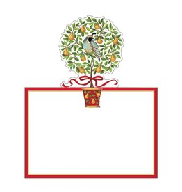 Caspari Christmas Table Place Cards Die Cut 8pk On The 12th Day