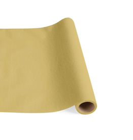 Caspari Paper Linen Solid Table Runner In Gold