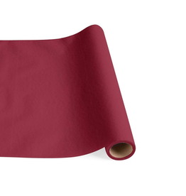 Caspari Paper Linen Solid Table Runner In Cranberry