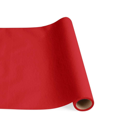 Caspari Paper Linen Solid Table Runner In Red