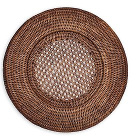 Caspari Rattan Chargers 13 Inch Round Plate Charger