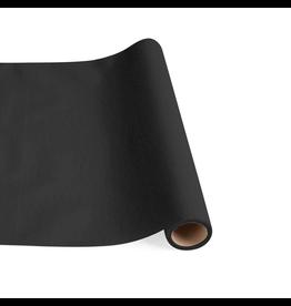 Caspari Paper Linen Solid Table Runner In Black