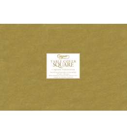 Caspari Table Covers Square Table Cover In Gold 72x72 inch