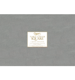 Caspari Table Covers Square Tablecover In Silver 72x72 inch