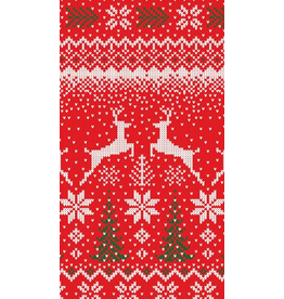 Caspari Christmas Paper Guest Towel Napkins 15pk Winter Fairisle