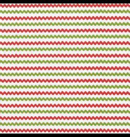 Caspari Christmas Paper Lunch Napkins 20pk Rickrack Red Green
