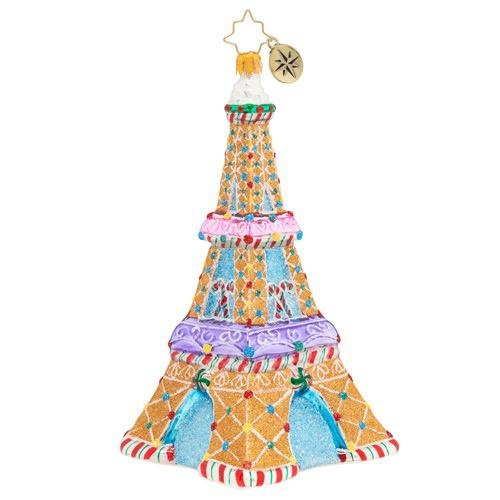 Christopher Radko Paris Is Sweet Eiffel Tower Christmas Ornament