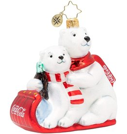 Christopher Radko The Paws That Refreshes Coca-Cola Polar Bears Ornament