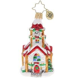 Christopher Radko Christmas Chapel Gem Church Christmas Ornament