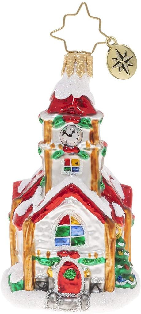 Christopher Radko Christmas Chapel Gem Church Christmas Ornament