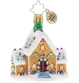 Christopher Radko Gingerbread Dream Home Gem Christmas Ornament