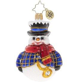 Christopher Radko Jolly All A-Round Snowman Gem Christmas Ornament