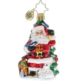 Christopher Radko Santas Menagerie Of Friends Gem Christmas Ornament