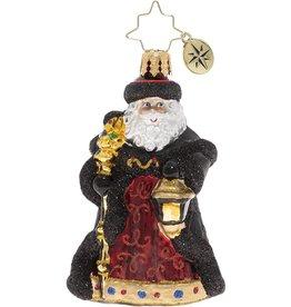 Christopher Radko Ebony Clad Mr Claus Gem Christmas Ornament