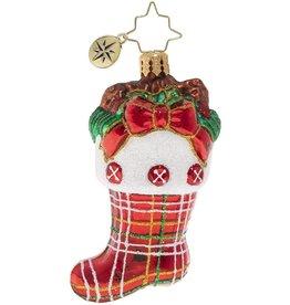 Christopher Radko Classic Country Stocking Gem Christmas Ornament