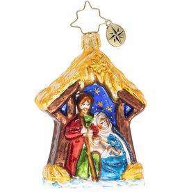Christopher Radko Asleep In The Manger Gem Christmas Ornament