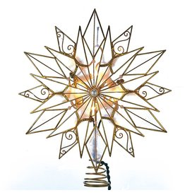 Kurt Adler Tree Toppers 24pt Capiz Style Wire Snowflake Star