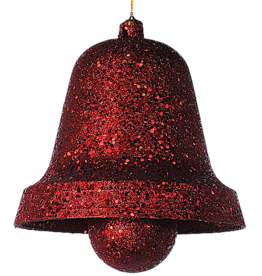 Katherine's Collection Large Red Glittered Bell Holiday Decoration 9.75 inch