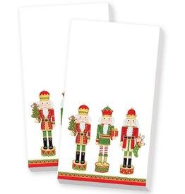 Caspari Christmas Paper Guest Towel Napkins 30pk Nutcracker Parade