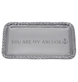Mariposa Engraved Sentiment Tray With You Are My Anchor