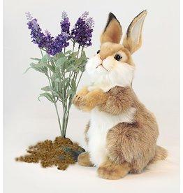 Hansa Toy Bunny Rabbit 12 inch Baby Carmel White 3316