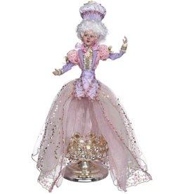 Mark Roberts Fairies Spring 51-71934 Let Me Eat Cake Girl on Dome-Pedestal 21H