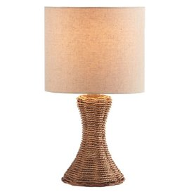 Midwest-CBK Woven Mini Lamp w Shade 16H Style A