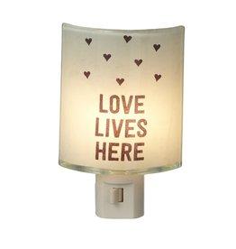 Midwest-CBK Night Lights 121589 Love Lives Here Night Light